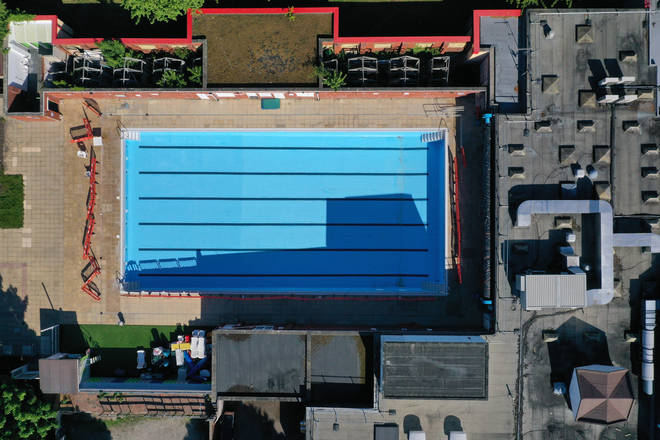 This is the only inland brine swimming pool in Britain