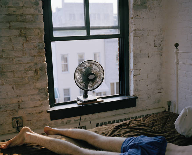 Many of us sleep with our fans pointing towards us (stock image)