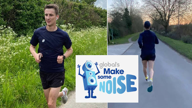 Tom Dell is running one mile for every Olympic medal that Team GB win for Global's Make Some Noise