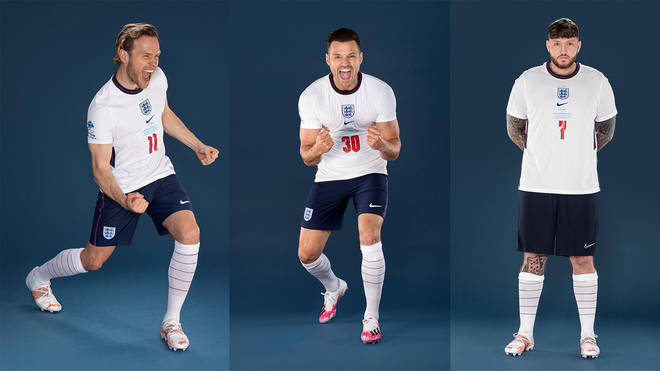 Olly Murs, Mark Wright and James Arthur are taking part in Soccer Aid 2021
