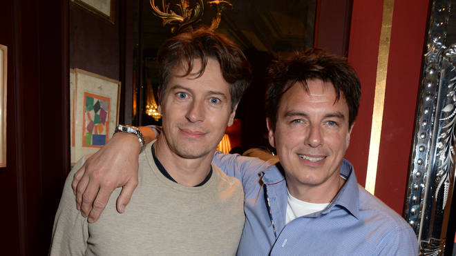 John Barrowman and Scott Gill at the opening of 'Chicago' in London