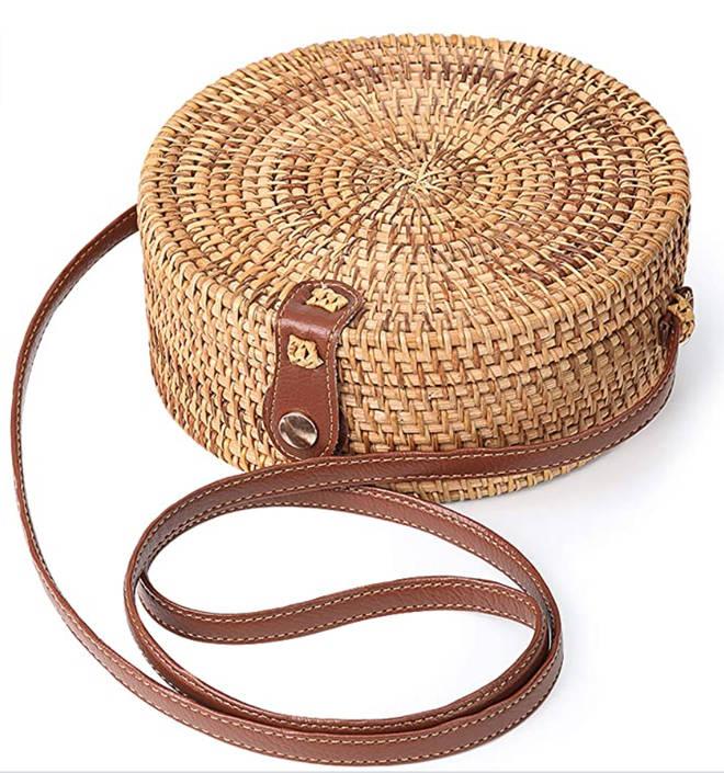 Enmain - Round rattan bag