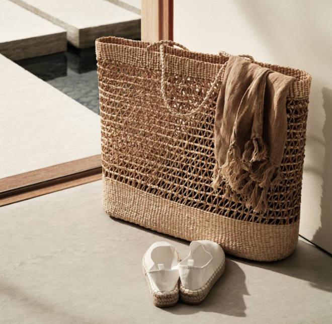 H&M - Large straw bag