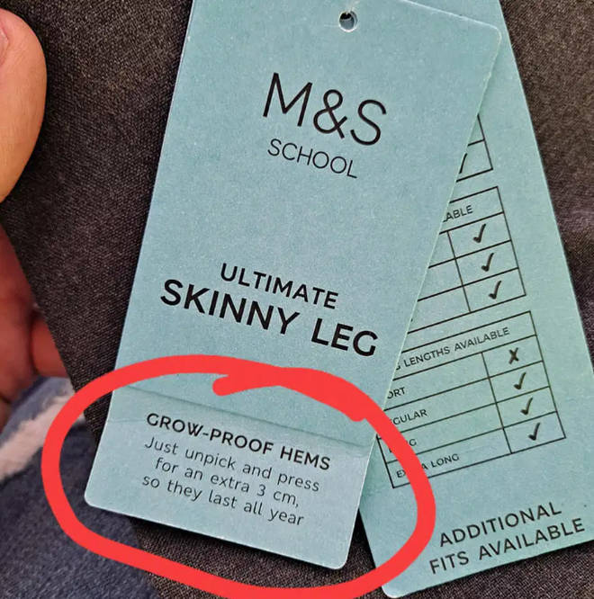 The mum shared her amazement at the trick hidden in the M&S trousers