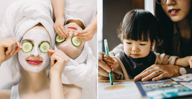 What do do with the kids while self-isolating (stock images)