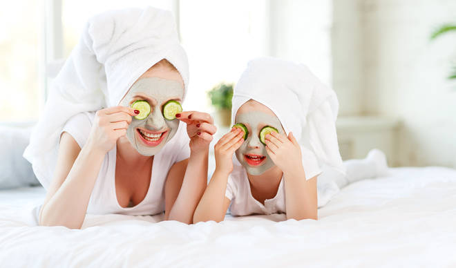 Setting up a home spa is a great family-friendly activity (stock image)