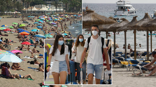 Holidaymakers travelling from Spain could have to quarantine