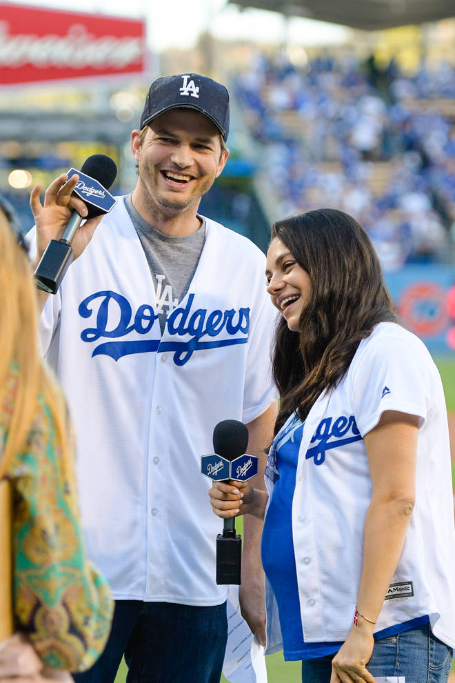 Mila Kunis and Ashton Kutcher told the podcasters they only wash their children if they can see dirt on them