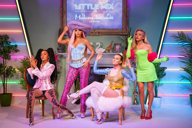The Little Mix girls are dressed and styled as they are in their music video for hit 'Bounce Back'