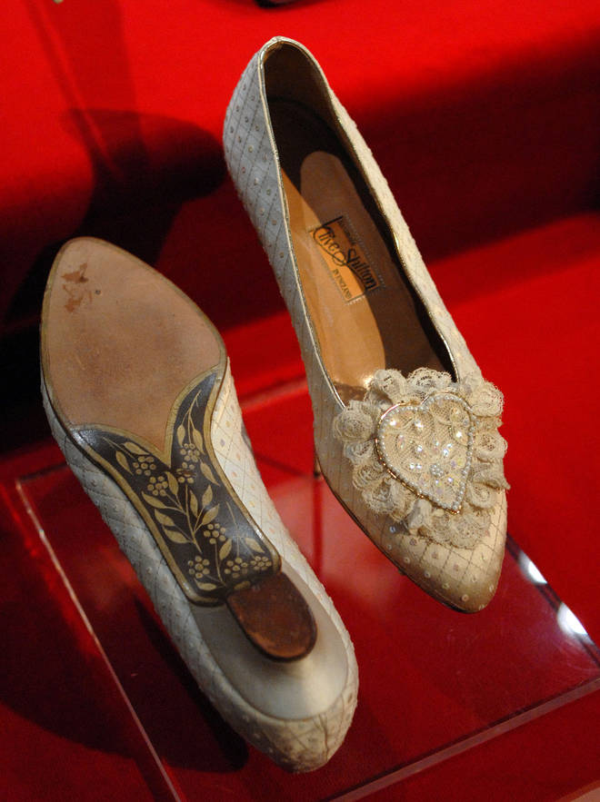Princess Diana's wedding shoes had a hidden message written on the heel