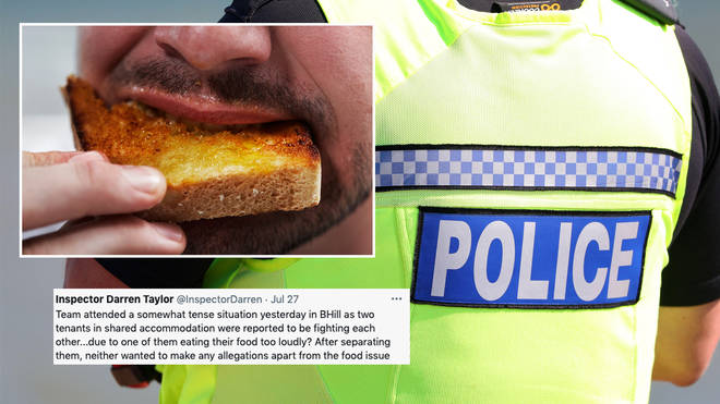 Police were called after a fight broke out in Sussex over loud chewing
