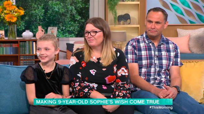 Sophie appeared on This Morning with her parents today