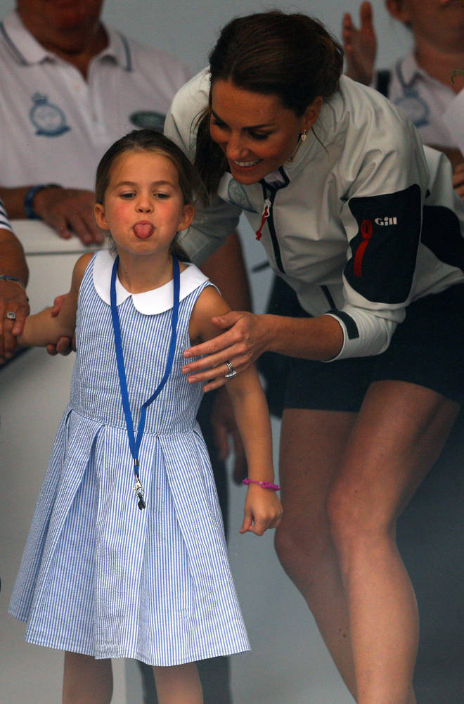 Kate Middleton's reaction to Charlotte sticking her tongue out was priceless