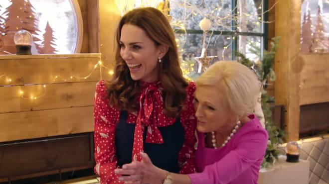 Kate Middleton told Mary Berry that she loves baking her children's birthday cakes