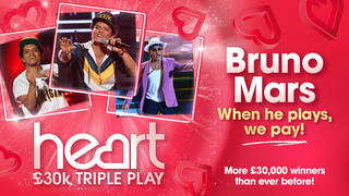 Bruno Mars could win you up to £30,000 this week!