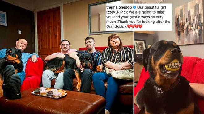 The Malone's have shared some sad family news about their dog