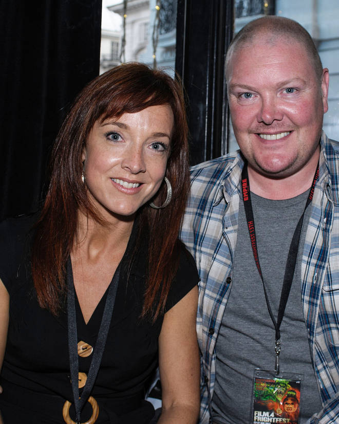 Dominic Brunt and Joanne Mitchell have been married for 18 years