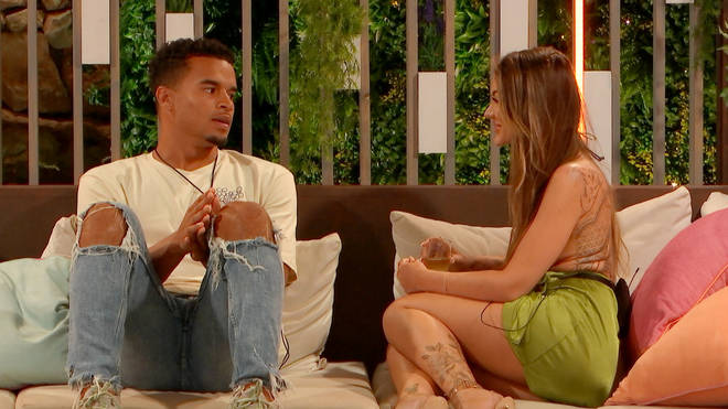 Toby pulls Abi for a chat in Love Island