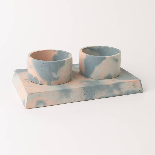 These trendy dog bowls are suitable for indoor or outdoor use