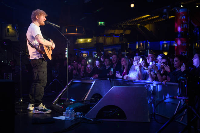 Ed Sheeran performed his biggest hits in one of London's smallest venues