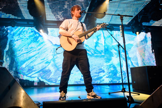 Ed played for 45 minutes, performing some of his biggest hits