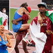 Gianmarco Tamberi and Mutaz Essa Barshim were delighted to share gold in the high jump