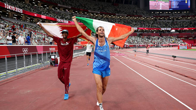 Gianmarco Tamberi and Mutaz Essa Barshim were happy to share in the honour of winning gold at the 2021 Tokyo Olympics