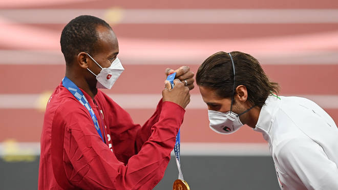 Tamberi and Barshim presented one another with their gold medals