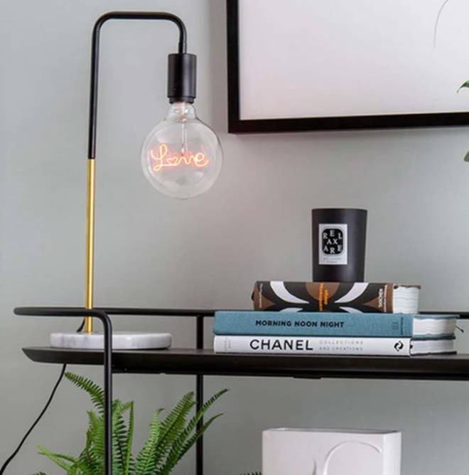 This 'LOVE' lightbulb is the perfect way to add an exciting new element to any room