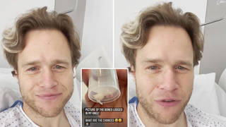 Olly Murs has shared an update from hospital