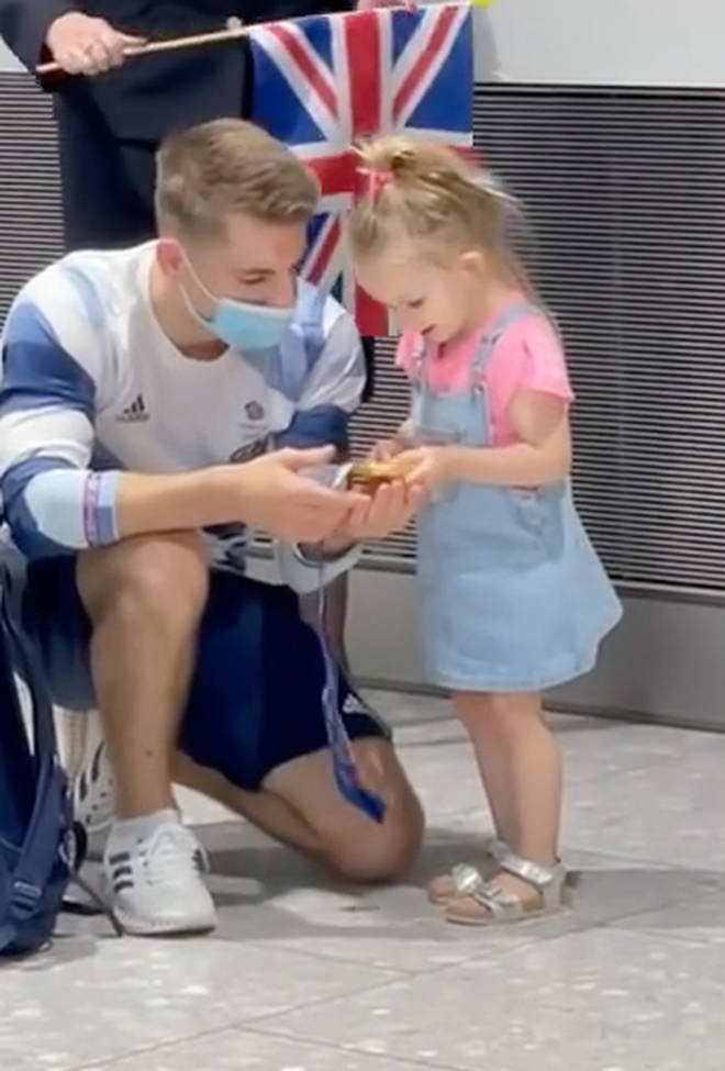 Max Whitlock gave his daughter his gold medal