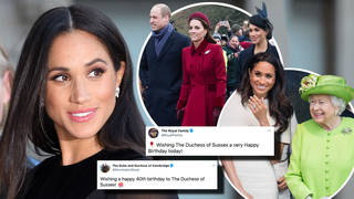 The Royal Family have been sharing birthday messages for the Duchess of Sussex, who turns 40 today