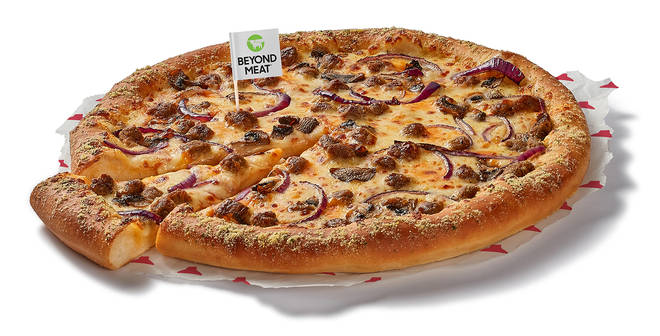 Three new Beyond Meat plant-based toppings are now a permanent addition to the Pizza Hut menu