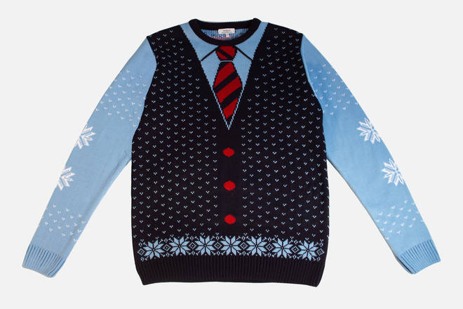 This creative Christmas jumper is from online shop, Not Just.