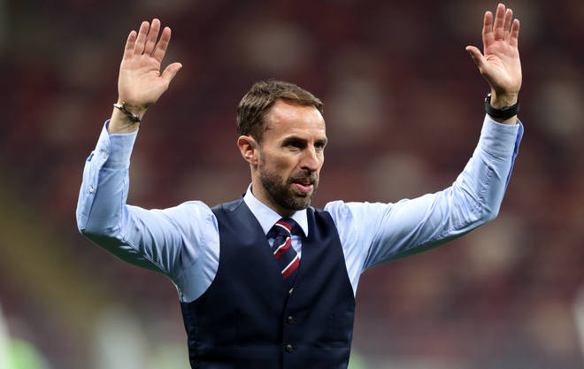 Gareth Southgate is known for his trademark