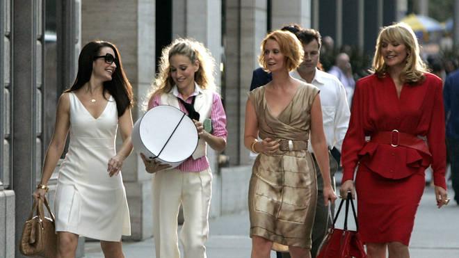 Kristin Davis, Sarah Jessica Parker, Cynthia Nixon and Kim Cattrall