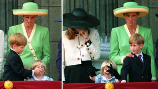 Princess Diana can be seen scolding Harry after he starts bothering Princess Beatrice