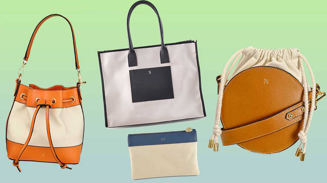 All four bag styles come in orange, navy, black and tan