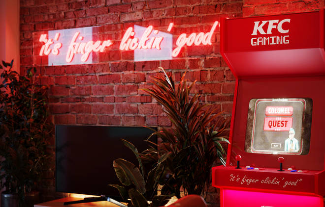 Have a go on a special KFC arcade machine once you're done munching