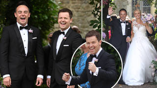 Declan Donnelly was Ant's best man as he wed Anne-Marie this weekend
