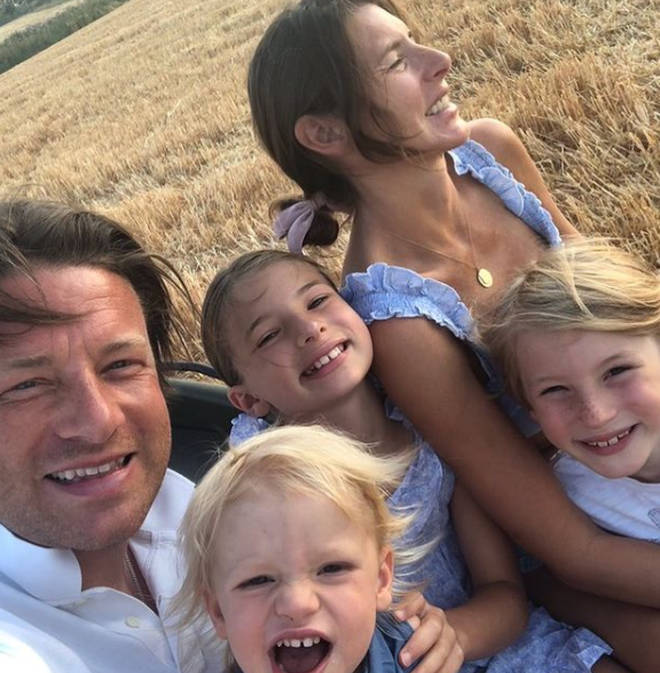 Jools and Jamie Oliver are the proud parents to Poppy, 18, Daisy, 17, Petal, 11, Buddy, 10 and River Rocket, four