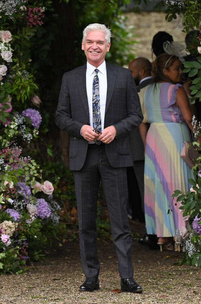 Holly Willoughby's This Morning co-star Phillip Schofield attending the wedding