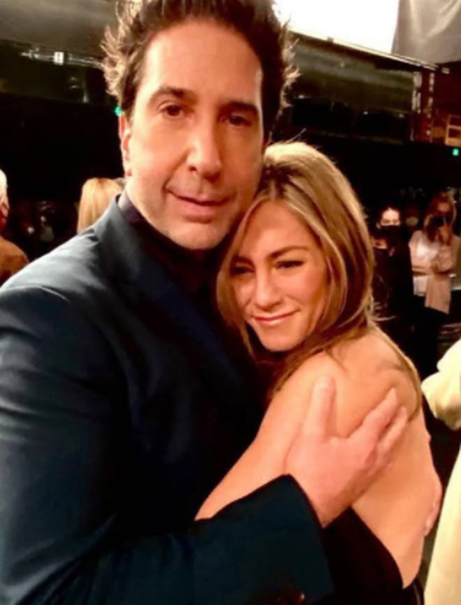 David and Jen reunited on the set of Friends: The Reunion, where the entire cast came back together