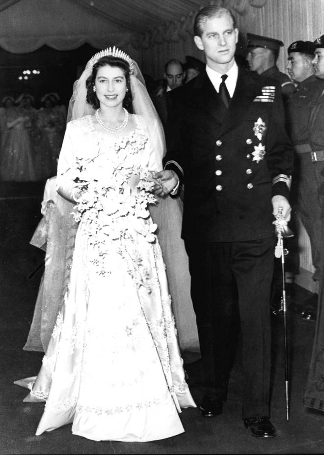 Elizabeth had to use rationing coupons to purchase her dress