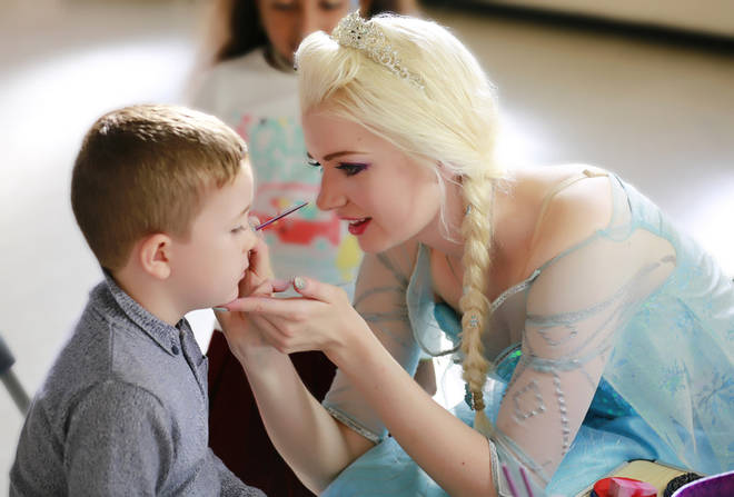 Lydia works as a princess at children's parties