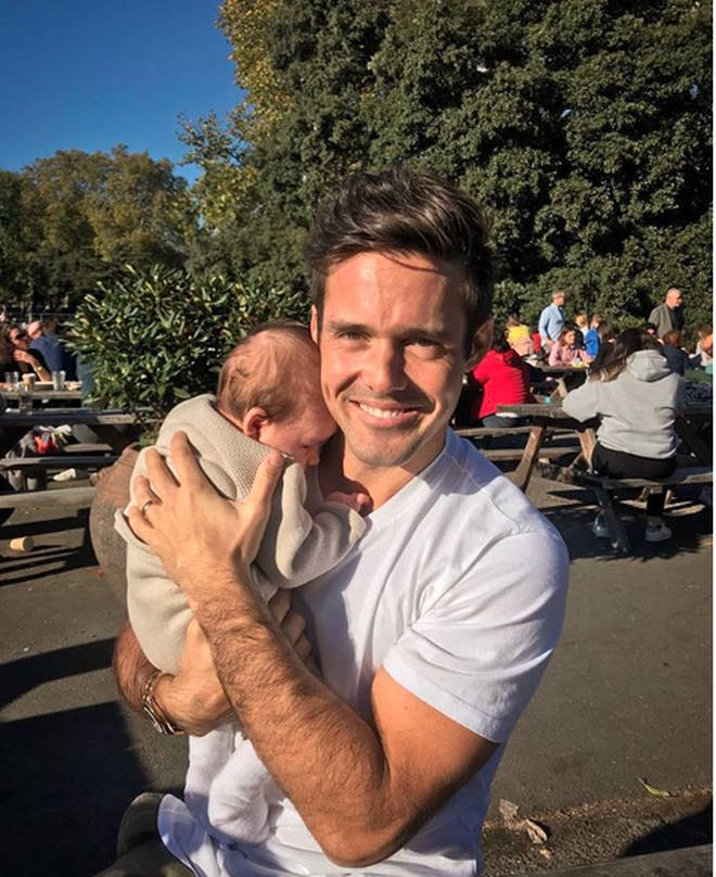 Spencer Matthews and his son Theodore