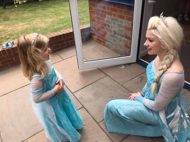 Lydia first dressed up as a princess for a fete as a favour for a friend