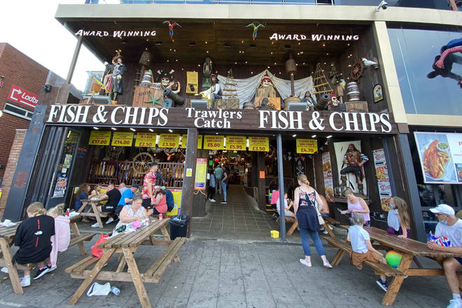There's plenty of places for fish and chips in Skegness