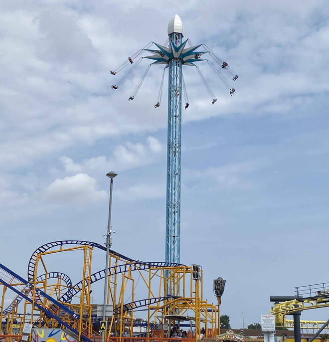 The Starflyer towers over the park, and offers gorgeous views of the Lincolnshire coastline