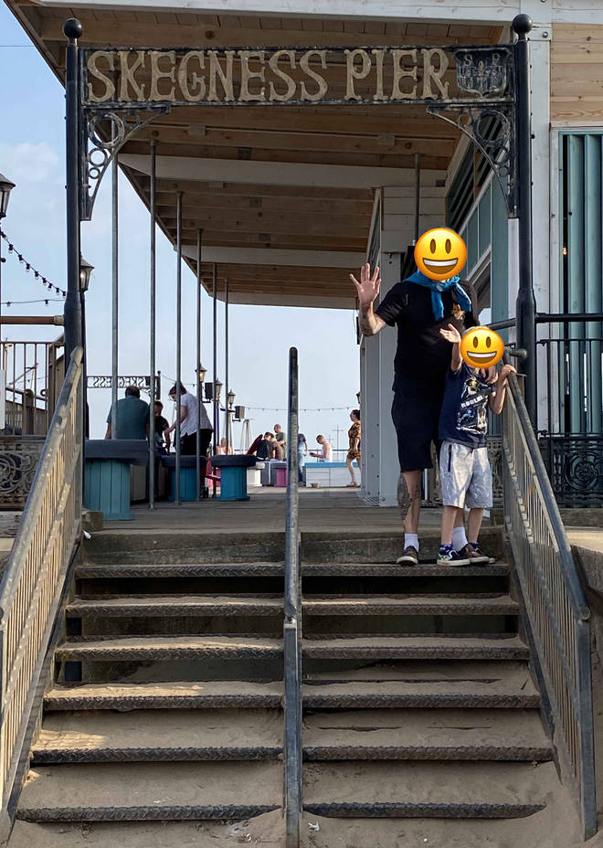 We couldn't wait to start our holiday off with a visit to Skegness Pier